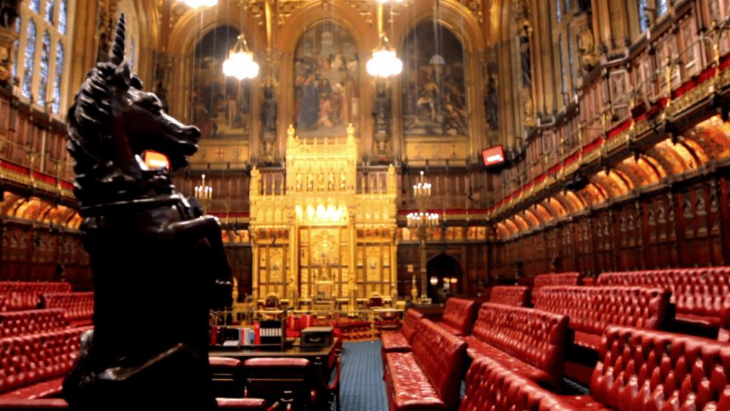 Câmara dos Lordes - Mapa de Londres