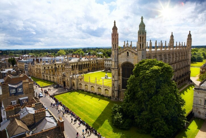 Universidade de Cambridge, na Inglaterra