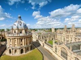 Universidade de Oxford, na Inglaterra