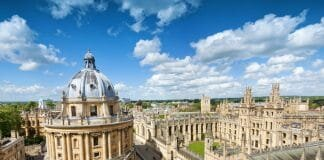 Universidade de Oxford, na Inglaterra