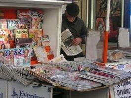 Quiosque de jornais em Londres