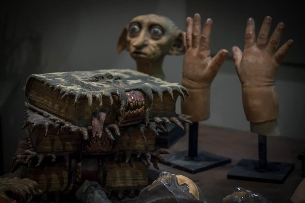 Detalhes de objetos Harry Potter