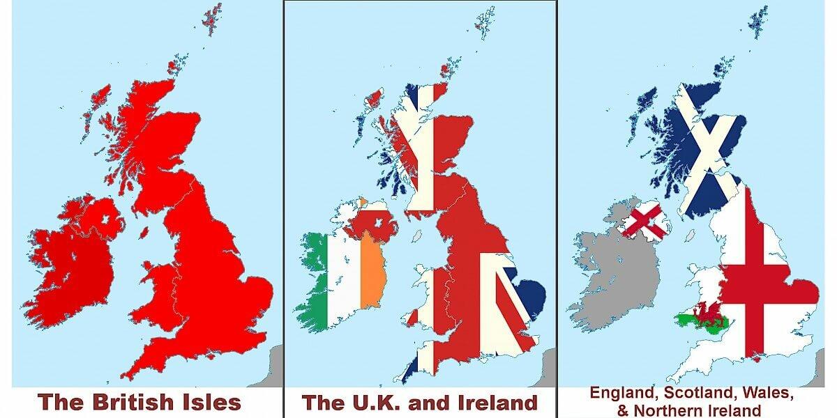 Diferença entre a Inglaterra, Reino Unido e Grã-Bretanha