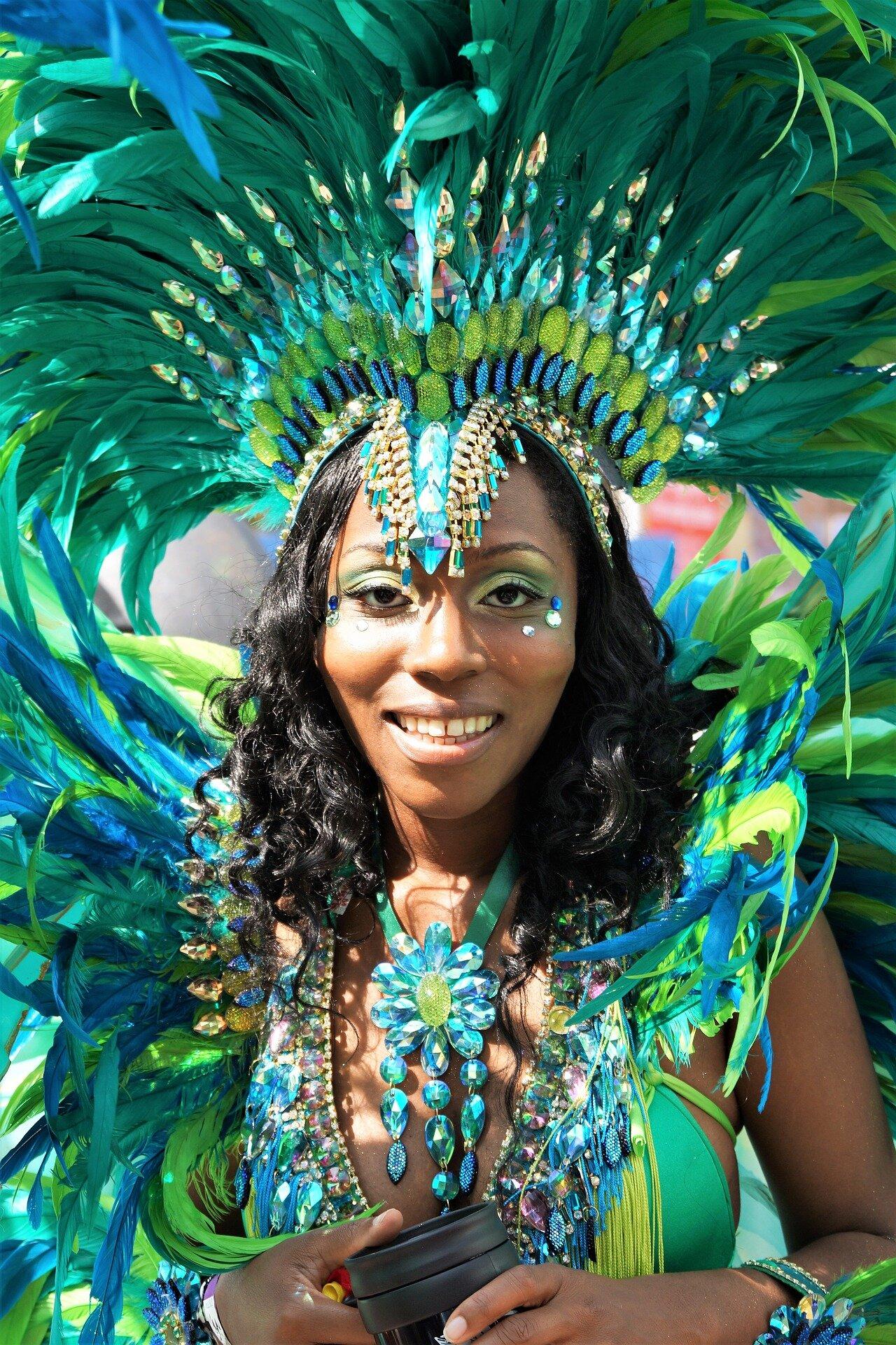 Passista no carnaval de Londres
