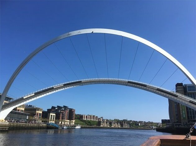 O design da Gateshead Millennium Bridge